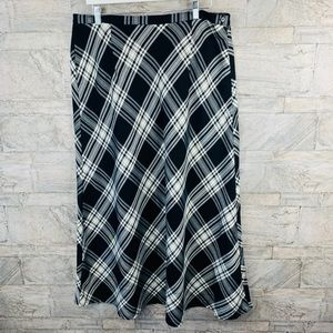 Cato Plaid Midi Black And White Skirt size 18W